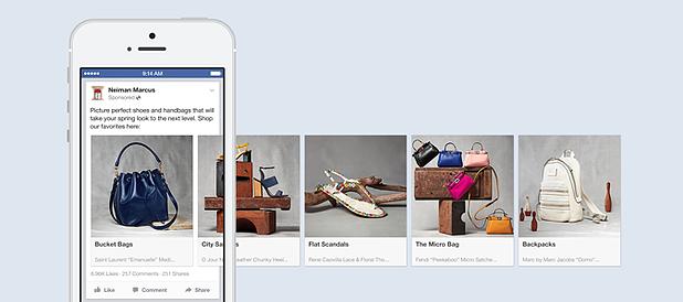 Carrossel Facebook - Facebook Ads para ecommerces