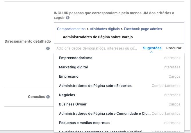 Interesses FAcebook - Facebook Ads para ecommerces