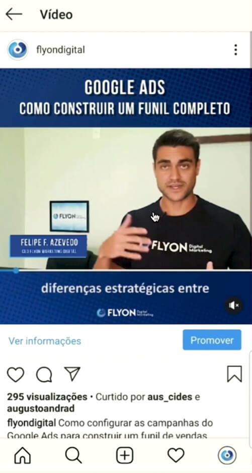 Botão Promover - Anunciar no Instagram