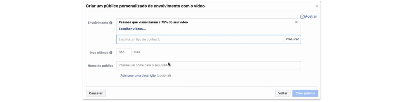 Públicos personalizados - Vídeo